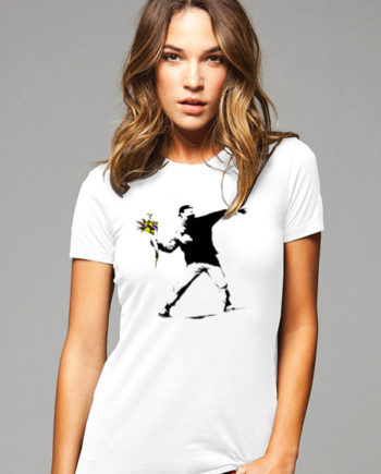 Banksy Flower Thrower Women's T-Shirt