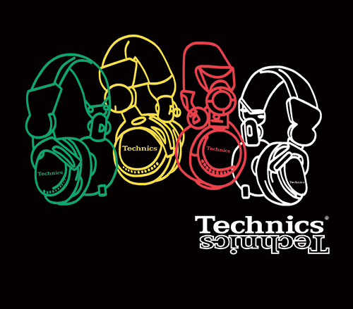 T-Shirt Technics cuffie