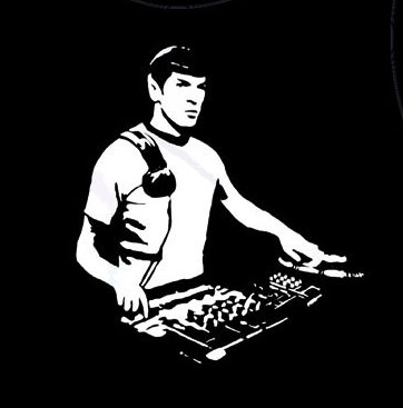 T-Shirt DJ Spock - Star Trek deejay