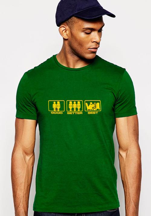 T-shirt Good better best
