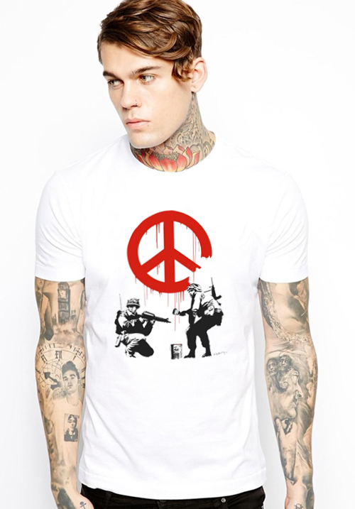 Banksy Soldiers of Peace T-shirt