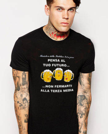 T-Shirt pensa al tuo futuro non fermarti alla terza media