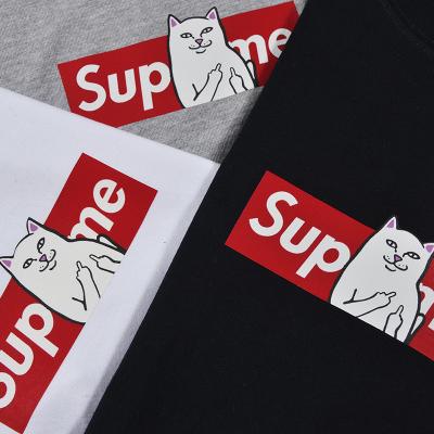 T-Shirt Supreme vs Ripndip donna