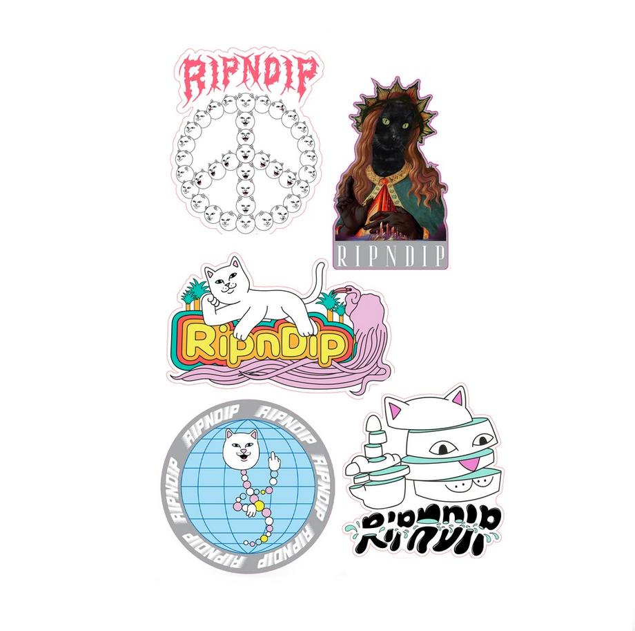 stickers 5 ripndip