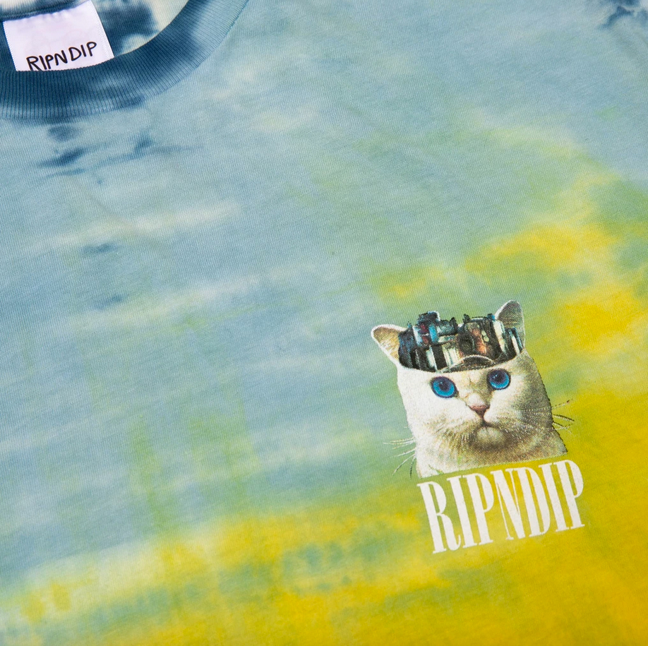 Ripndip Masterpiece Tee (Orange / Blue Tie Dye)