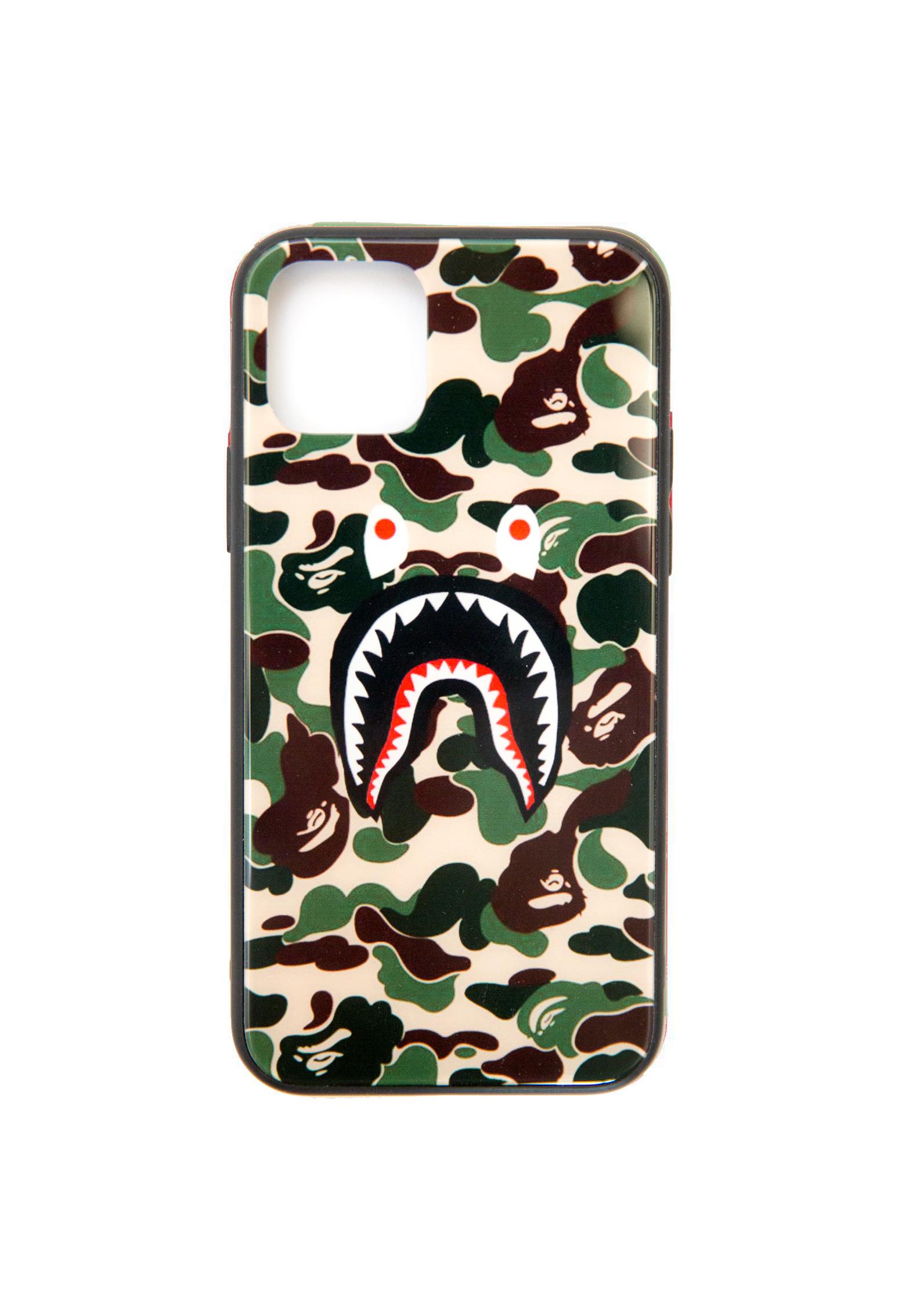 Shark Bape Camo Army iPhone Case 11 pro