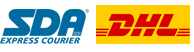 we ship with SDA and DHL