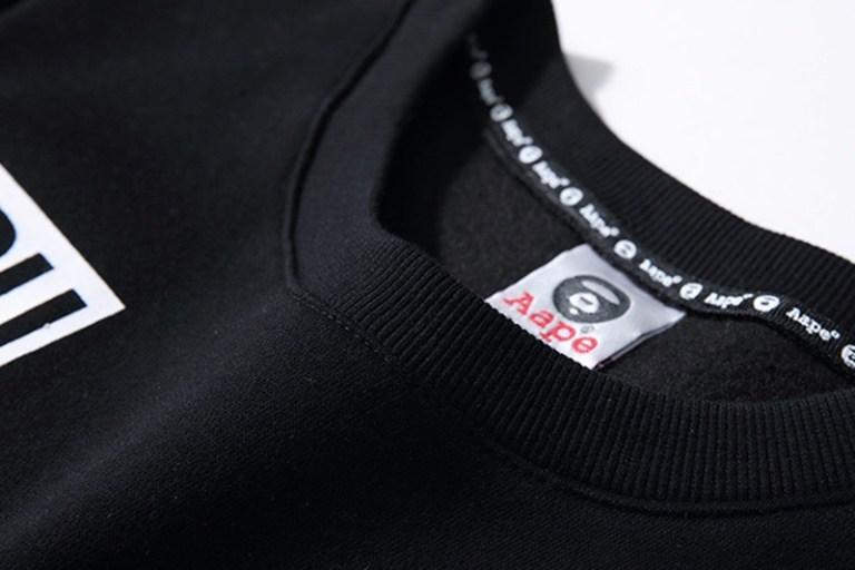 AAPE Long Sleeve Logo Arm Tee