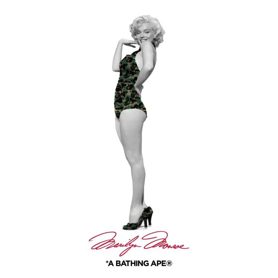 T-SHIRT A BATHING APE Marilyn Monroe